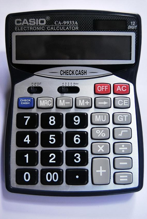 Máy tính Casio CA-9933A (có đèn soi tiền giả)