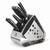 Bộ dao inox Elmich 7 món EL3800 (4 dao, 1 kéo, 1 thanh mài dao, 1 giá để dao )