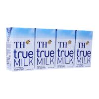 Sữa tiệt trùng TH True Milk có đường lốc 4 hộp x 110ml