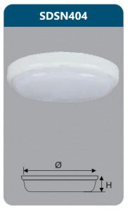 Đèn ốp trần led chống thấm 18w Duhal SDSN404