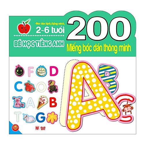 200 Miếng Bóc Dán Thông Minh – Bé Học Tiếng Anh (2 – 6 Tuổi)
