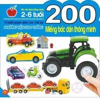 200 miếng bóc dán thông minh - Phương tiện giao thông - Nhiều tác giả