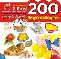 200 miếng bóc dán thông minh các loài động vật