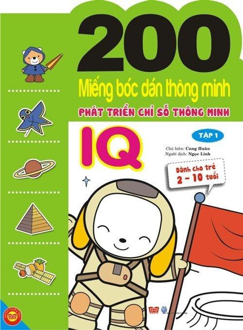 200 miếng bóc dán thông minh phát triển chỉ số thông minh IQ T1 (Dành cho trẻ 2-10 tuổi)