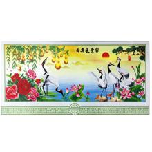 Bộ làm tranh đính đá 5D Lộc hạc phú quý Minh Hiền Y161