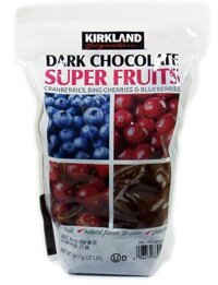 Chocolate trái cây Kirkland Signature Dark Chocolate Super Fruits - 907g