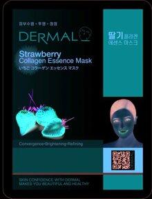 Mặt Nạ Dưỡng Da Tinh Chất Dâu Tây Dermal Strawberry Collagen Essence Mask 23g