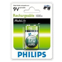 Pin Sạc Philips NiMH 9VB1A17 - 170mAh