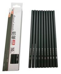 Bộ 10 bút chì mềm 2B hàng nhập khẩu Nhật Bản