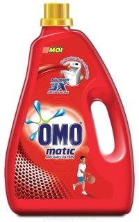 Nước giặt OMO Matic máy giặt cửa trên chai 2.7KG