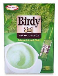 Trà Sữa Birdy Matcha Hòa Tan 3 In 1 Hộp 20 Gói x 17G