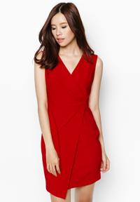 Đầm body Zenfdy xếp ly nổi màu đỏ ZDD-023D