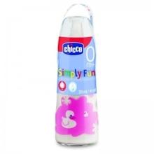 Bình sữa cổ hẹp thuỷ tinh Chicco 120ml
