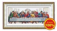 Tranh thêu chữ thập bữa tiệc ly - DLH-YA581