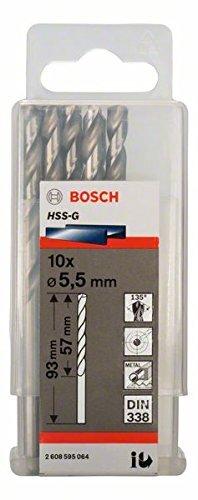 Bộ mũi khoan sắt HSS-G Bocsh 2608595064 - 10 mũi, 5.5mm