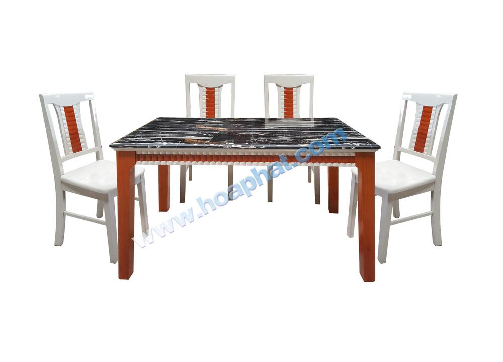 Bộ bàn ghế ăn gỗ Hòa Phát HGB68A + 6HGG68