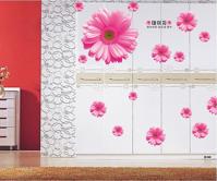 Decal dán tường Hoa đồng tiền hồng-PK109