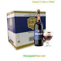 Thùng 12 chai - Bia Chimay xanh 750ml - BIA BỈ ( Bia ngoại nhập )