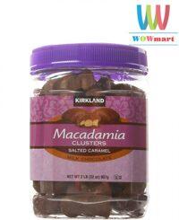 Chocolate sữa bọc hạt Macca Kirkland Signature Macadamia Clusters Salted Caramel Milk Chocolate 907g