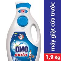 Nước giặt Omo Matic chai 1.9kg - dành cho máy giặt cửa trước