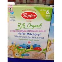 Bột ăn dặm Topfer Organic ngũ cốc trái cây-sữa-táo-chuối-cam (200gr)