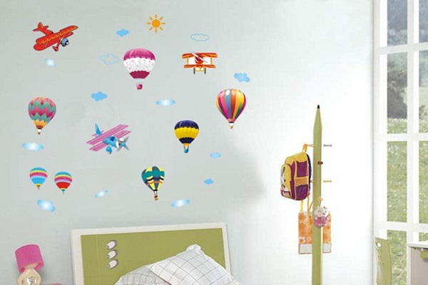 Decal dán tường Bin Bin EB234 Khinh khí cầu 5