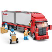 Đồ chơi bộ lắp ráp xe tải vận chuyển hàng Sluban M38-B0338
