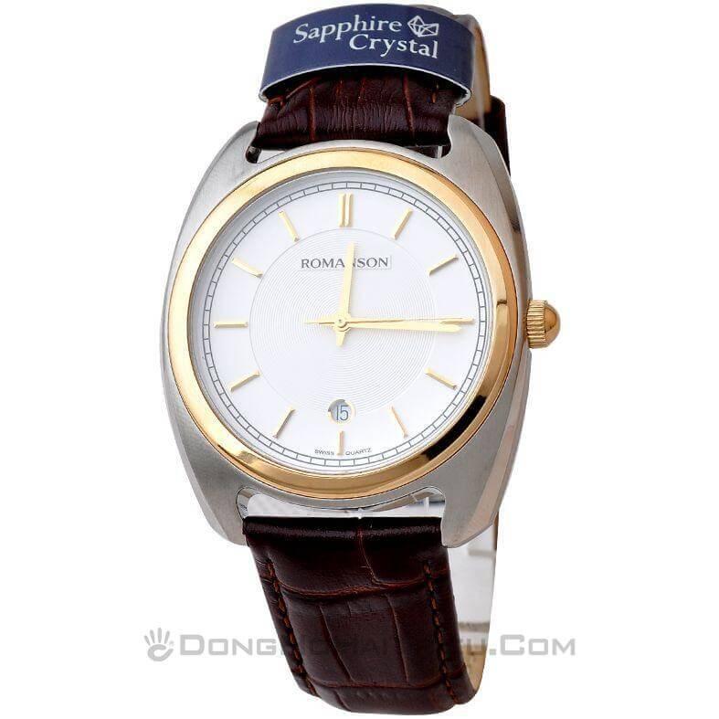 Đồng hồ nữ dây da Romanson TL1269MCWH