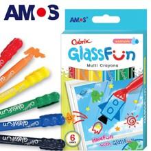 Bút màu cho trẻ Glass Fun ACXG1 (6 màu)