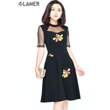 Đầm maxi cộc tay xẻ sau LAMER LM03601632