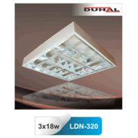 Máng đèn phản quang gắn nổi T8 3x18W Duhal LDN-320