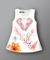 Đầm in 3D hình hoa mùa xuân cho bé gái DV002