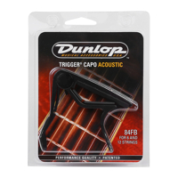 Capo guitar acoustic Dunlop Trigger Flat Black 84FB