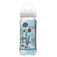 Bình sữa thủy tinh cổ rộng Chuchu Baby G - 240ml