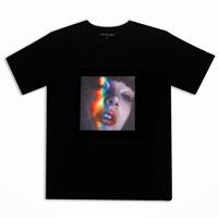 Áo thun t-shirt in hình độc đáo màu đen thời trang Can De Blanc H17F1031
