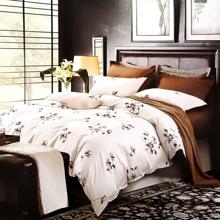 Bộ drap gối cotton satin Ai Cập Julia 544BK16 160 x 200 x 28 cm