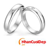 Nhẫn cưới vàng trắng NCD 2012