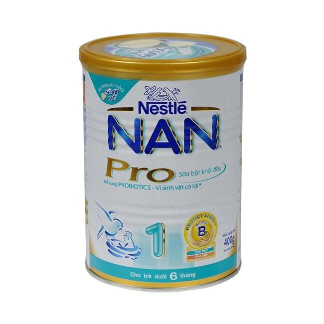 Sữa bột Nan Pro 1 - hộp 400g (dành cho trẻ từ 0 - 6 tháng) ...