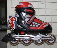 Giầy trượt Patin Inline Skate có đèn 0835 đỏ