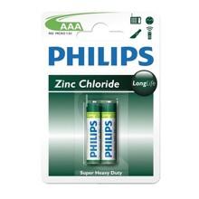 Hộp 12 vỉ pin kẽm AAA Philips R03L2B