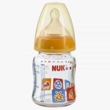 Bình sữa cổ rộng thủy tinh núm cao su Nuk 120ml