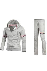 Bộ quần áo thể thao nam Titishop DTT34 (Xám)