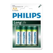 Hộp 12 vỉ pin kẽm AA Philips R6L4B
