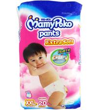 Tã quần MamyPoko Girls size XXL 20 miếng (trẻ từ 15 - 25kg)