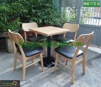 Bàn ghế gỗ cafe MC01