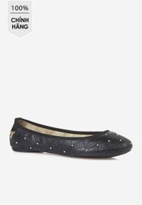 Giày búp bê Butterfly Twists đen đính hạt kim loại vàng