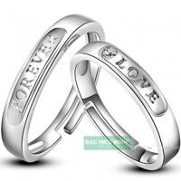 Nhẫn đôi Bạc Hiểu Minh NC334 - Tình yêu vĩnh cửu
