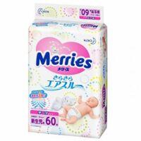 Tã dán Merries Newborn NB60 - 60 miếng (dành cho trẻ sơ sinh dưới 5kg)
