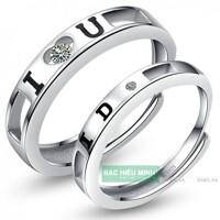 Nhẫn đôi Bạc Hiểu Minh NC363 - Yêu anh nhé