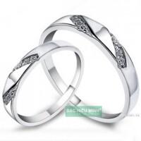 Nhẫn đôi Bạc Hiểu Minh NC205 - Luôn bên nhau